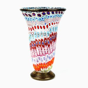 Vaso in vetro Murrina Millefiori di Imperio Rossi per Made Murano Glass, 2019