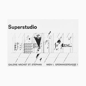 Ausstellungsposter von Superstudio, 1973