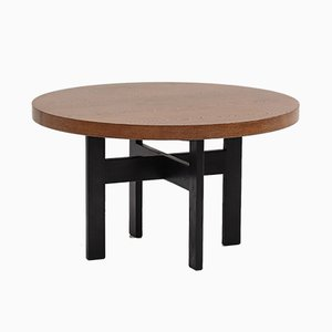 Round Vintage Wenge Dining Table