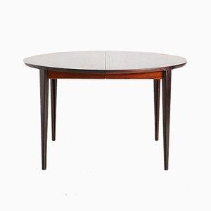 Tavolo da pranzo in palissandro di Henry Rosengren Hansen, anni '60