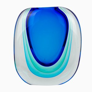 Sommerso Technique Glass Vase by Michele Onesto for Made Murano Glass, 2019