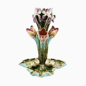 Antique French Majolica Centerpiece, 1900s