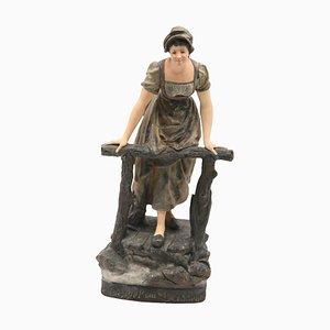 Antique Appel Au Passeur Sculpture by Joseph Le Guluche
