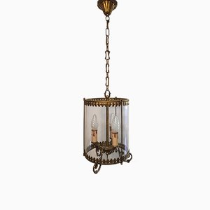 Empire Style Bronze Ceiling Lamp, 1950s