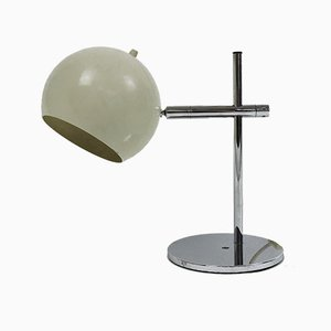 Mid-Century Spherical Cream Desk Lamp