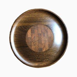 Bandeja de servicio de madera de Jens Quistgaard para Dansk Design, años 60
