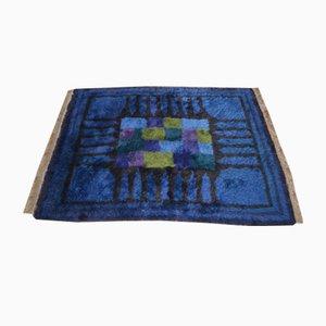 Blauer Hochflorteppich von Viola gråsten für NK textilkammare, 1966