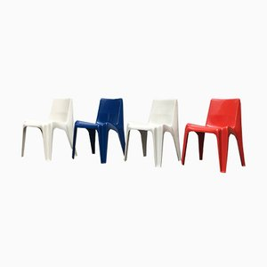 Mid-Century German Stackable Dining Chairs by Helmut Bätzner for Bofinger, Set of 4