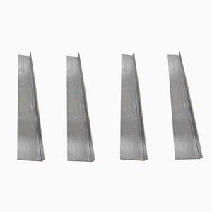 Wandregale aus Stahl, 1980er, 4er Set