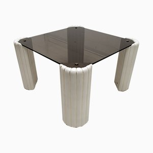 Mid-Century Ceramic & Smoked Glass Coffee Table by Tommaso Barbi, 1970s