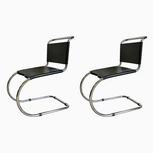 Chaises de Salle à Manger par Ludwig Mies van der Rohe, années 70, Set de 2