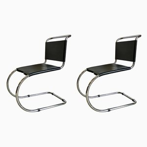 Dining Chairs by Ludwig Mies van der Rohe, 1970s, Set of 2