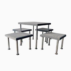 Tavolo da pranzo e quattro sgabelli di Guido Drocco per ARBO, 1969