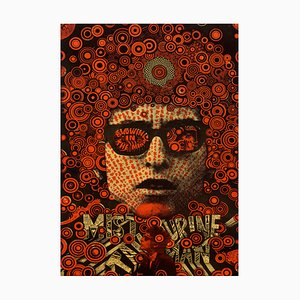 Póster Bob Dylan Mister de hombre de tamboril de Martin Sharp, 1967