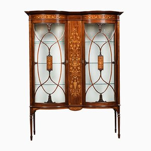 Antique Mahogany and Marquetry Inlaid Cabinet