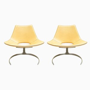 Scimitar Lounge Chairs by Preben Fabricius & Jørgen Kastholm for Bo-Ex, 1980s, Set of 2