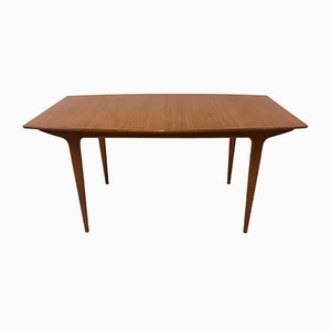 Model T2 Zebra Wood Extendable Dining Table by Tom Robertson for McIntosh, 1960s