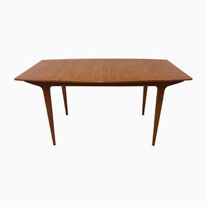 Tavolo da pranzo T2 allungabile in legno di zebrano di Tom Robertson per McIntosh, anni '60