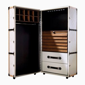 Leather & Walnut Cabinet from C.A. Spanish Handicraft