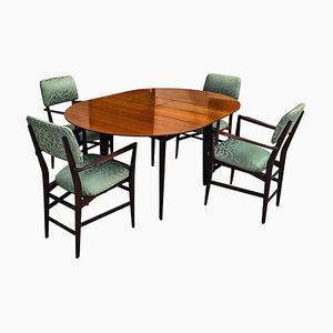 Table et Chaises de Salle à Manger en Teck de Vittorio Dassi pour Dassi Mobili Moderni, années 50