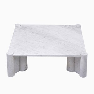White Marble Model Jumbo Coffee Table by Gae Aulenti, 1970s