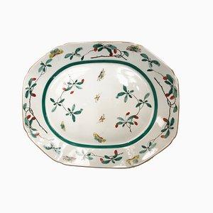 Antique Portuguese Porcelain Oval Serving Plate from Vista Alegre