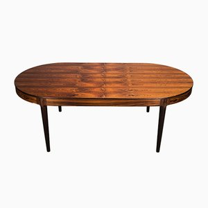 Rosewood Ellipse Dining Table by Arne Hovmand Olsen, 1960s