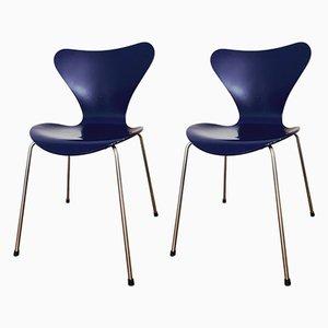 Sedie da pranzo della serie 7 di Arne Jacobsen per Fritz Hansen, inizio XXI secolo, set di 2