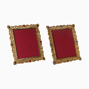 Antique Gilded Bronze Frames, Set of 2