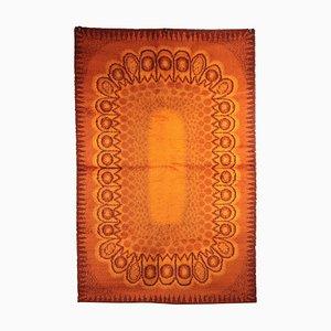 Tapis Vintage Orange en Laine Mélangée