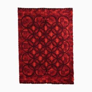 Vintage Mixed Wool Carpet, 1970s
