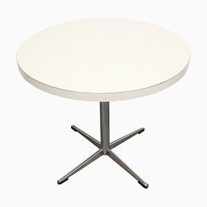 Couchtisch mit weißer Tischplatte & verchromtem Fuß, 1970er