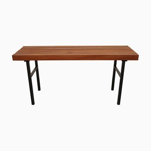 Metal and Teak Bench, 1960s