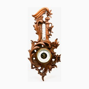 Antique Belgian Walnut Weather Station from A. de Lambert