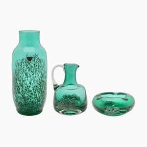 Vases Mid-Century par Heinrich Loffelhardt pour Schott Zwiesel, Set de 3