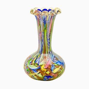 Vaso della serie Byzantine in vetro di Murano di A.VE.M, anni '50