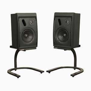 Black Control 5 Loudspeakers from JBL, 1960s, Set of 2