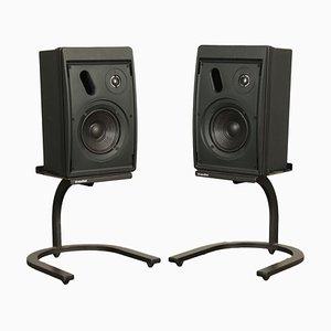 Schwarze Control 5 Lautsprecher von JBL, 1960er, 2er Set