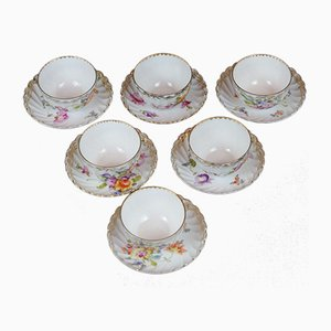 Antique Porcelain Dessert Bowls from Hermann Ohme K.G., Set of 6