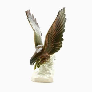 Porcelain Bird of Prey Figurine from Goebel, 1960s