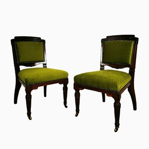 Antique Carved Dining Chairs, Set of 2
