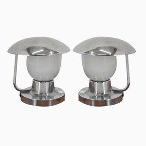 Lámparas de mesa modelo 1195 de Napako, años 50. Juego de 2