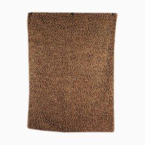 Alfombra vintage marrón, años 80