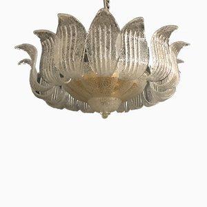 Lámpara de techo vintage grande de cristal de Murano de Ercole Barovier
