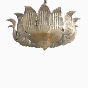 Large Vintage Murano Glass Ceiling Lamp by Ercole Barovier