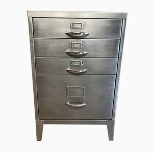 Industrial 4-Drawer Filing Cabinet, 1950s
