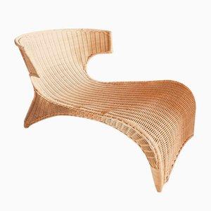 Italienische Mid-Century Stühle aus Rattan, 1960er, 2er Set