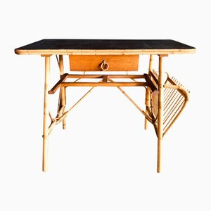 Mid-Century French Bamboo Desk, 1960s