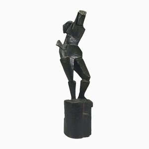 Cubist Bronze Sculpture by Andree Ducamp Gide, 1920s
