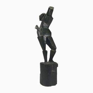 Kubistische Bronzeskulptur von Andree Ducamp Gide, 1920er